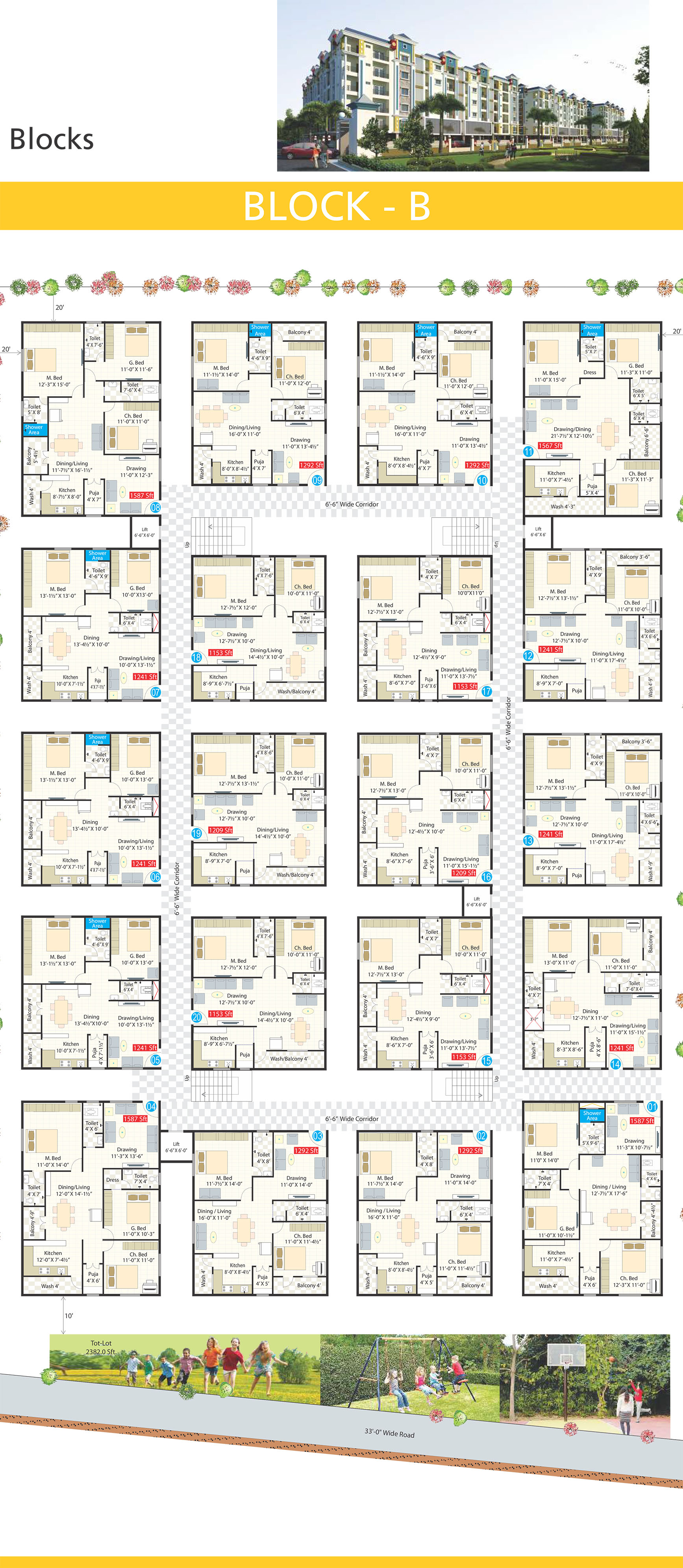 Metro Heights FLoor Plan Block-B